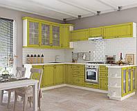 Кухня София Классика шпон патина Кухня 2 метра, Патина лимон