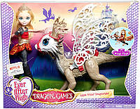 Набор Ever After High Apple White Doll and Braebyrn Dragon из серии Dragon Games.