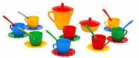 Ромашка, набор посуды с желтым чайником, 28 предметов в сумке. Тигрес