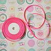 Лента атласная №9 (ярко-розовая)
