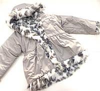 Детская демисезонная куртка на меху для девочки  на 2 - 6 лет