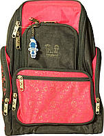 Рюкзак Шумахер, серо-розовый (16л), Bagland