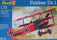 Самолет (1917г., Германия) Fokker DR. 1 Triplane, 1:72, Revell