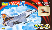 Самолет (1976г., США) F-16 Fighting Falcon, 1:100 - easykit, Revell