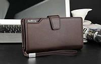 Мужской клатч Baellerry Business коричневый (портмоне, кошелек Баелери Бизнес)