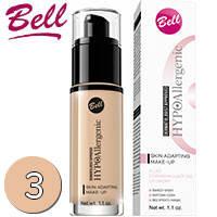 Bell HypoAllergenic - Skin Adapting Флюид подстраивающийся под тон кожи 30ml Тон 03 sunny beige