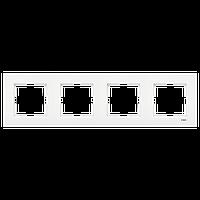 Рамка viko karre белый 4-я горизонтальная