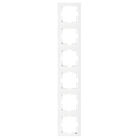 Рамка viko karre белый 6-я вертикальная