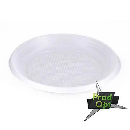 Тарілка біла Д-175мм №55 (100шт), фото 2
