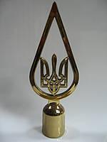 Наконечник на флаг тризуб в капле металлизированный