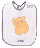 Слюнявчик хлопчато-клеенчатый Медведик, набор 3 шт., Canpol babies