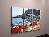 Фотокартина модульная природа красивый пейзаж море италия