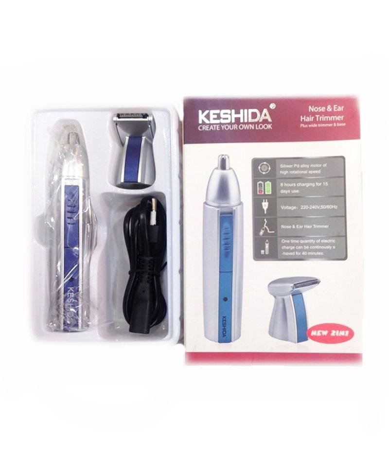 Триммер бритва для волос на лице и в носу Keshida NZ-208 2 в 1