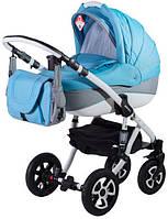 Универсальная коляска 2в1 Adamex Erika Len синий(меланж)-серый 87L (40025)