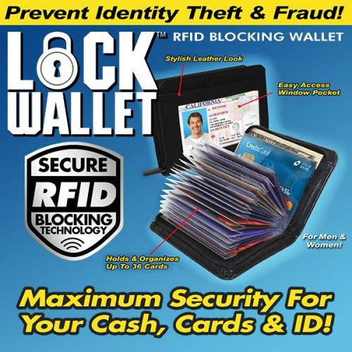 Футляр для документов, карточек визиток Lock Walet