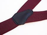 Мужские подтяжки бордовые классические, фото 3