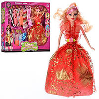 Кукла с нарядом В6891, кукла 28 см, платья 13 штук, модная девушка, в коробке 38*33*5,5 см