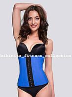 Синий латексный корсет Waist Training Pro. 55374-4