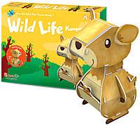 Трехмерная головоломка-конструктор Дикие животные: кенгуру, CubicFun