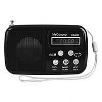 Минидинамик (портативная колонка) с радио WS-822, фото 1