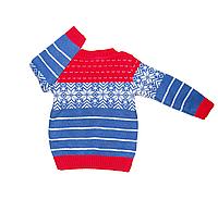 """Яркий теплый свитер для мальчика """"Снежинка"""""""