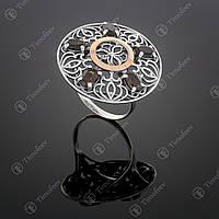 Серебряное кольцо с раухтопазом. Артикул П-358
