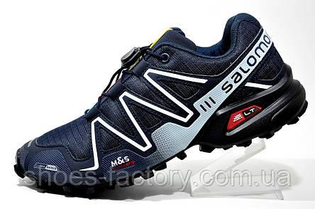Трекинговые кроссовки в стиле Salomon Speedcross 3, Dark blue, фото 2