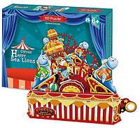 Трехмерная головоломка-конструктор Цирк. Веселый морской лев, CubicFun