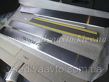 Защита порогов - накладки на пороги Mazda 6 I с 2003-2008 гг. (Standart)