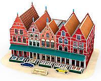 Трехмерная модель Рыночная площадь Брюгге , CubicFun