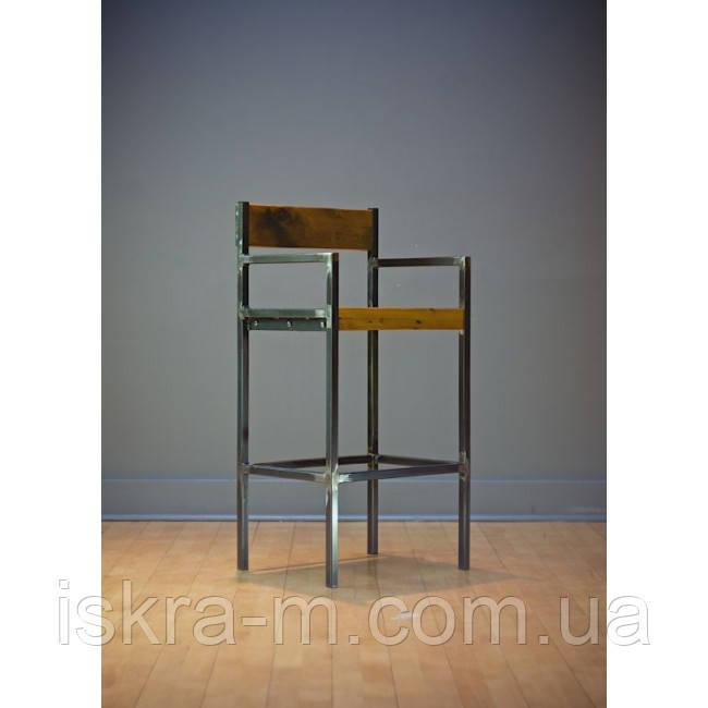 Металлический барный стул в стиле лофт