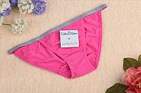Трусы женские бикини танга Calvin Klein bikini Perfectly fit   темно-розовый, L