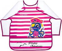 Фартук с рукавами Пираты, розовый с осьминогом, с 3-х лет, Canpol babies