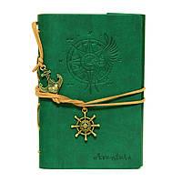 Блокнот с закладкой зеленый Aventura