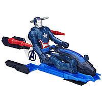 Фигурка мстителя Железный патриот с транспортом, (30 см) (Avengers), Hasbro