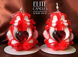 Романтические свечи Огненное сердце. Для приятного вечера и создания романтической атмосферы