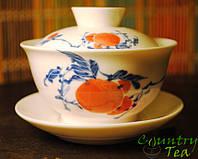 Гайвань (большая) 170 мл. Фарфор. Для китайского чая. К набору чайничек и пиалы.