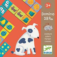 Цветные животные, Игра – детское домино, Djeco