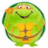 Черепашка-ниндзя Микеланджело, мягкая игрушка 12 см, Beanie Ballz, Ty