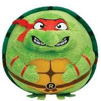 Черепашка-ниндзя Рафаэль, мягкая игрушка 12 см, Beanie Ballz, Ty
