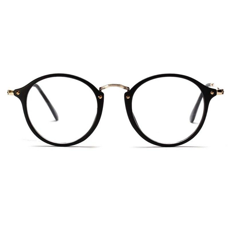 Имиджевые очки с прозрачной линзой круглые с металлическими дужками ... 2dc6d24364a71
