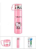 Металлический термос Hello Kitty 350 мл - с поилкой