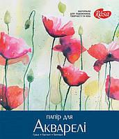 """Папка для акварели  А3,20 листов, серия """"Цветы"""", бумага ГОЗНАК"""