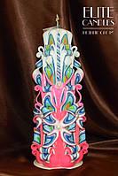 Велика свічка ручної роботи 260 мм заввишки, на подарунок коханим і близьким Вам людям
