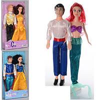"""Лялька 649В """"Сім'я"""" принц 29см принцеса 28 см"""