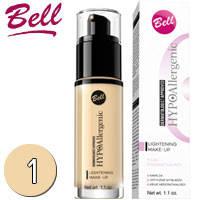 Bell HypoAllergenic - Lightening Make-Up Флюид придающий сияние коже 30ml Тон 01 light beige