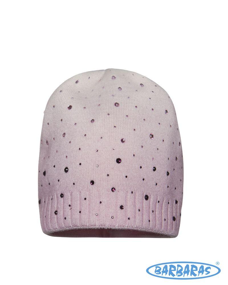 Теплая вязанная шапочка для девочки от BARBARAS Польша