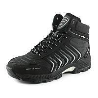 Ботинки зимние мужские Bona 66771D -6 черно-серый