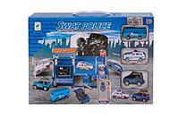 Детский гараж для полицейских машин