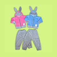 Необычный детский костюм из велюра Ушки 74-110
